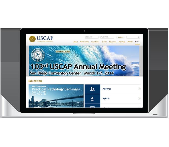 USCAP MyPath laptop view