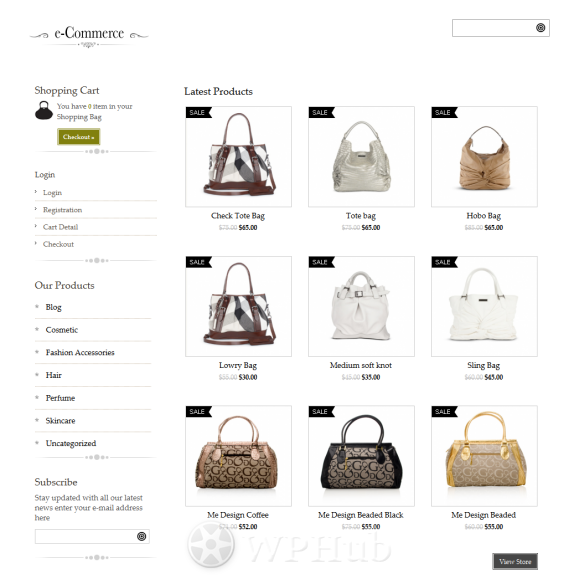Example of an eCommerce theme