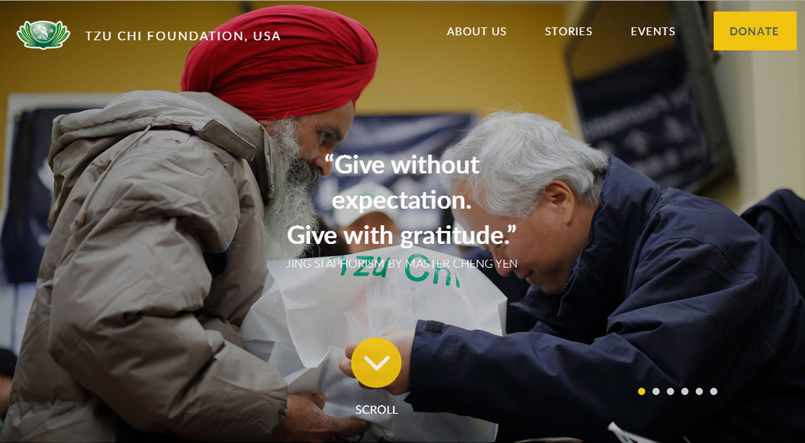 Tzu Chi Foundation's new website