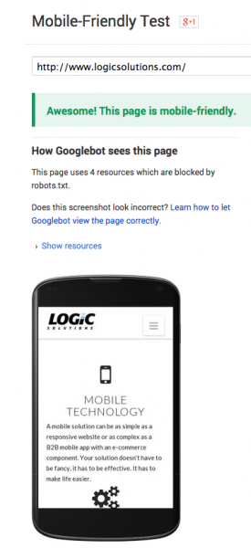Google's mobile-friendly test delivers fast results