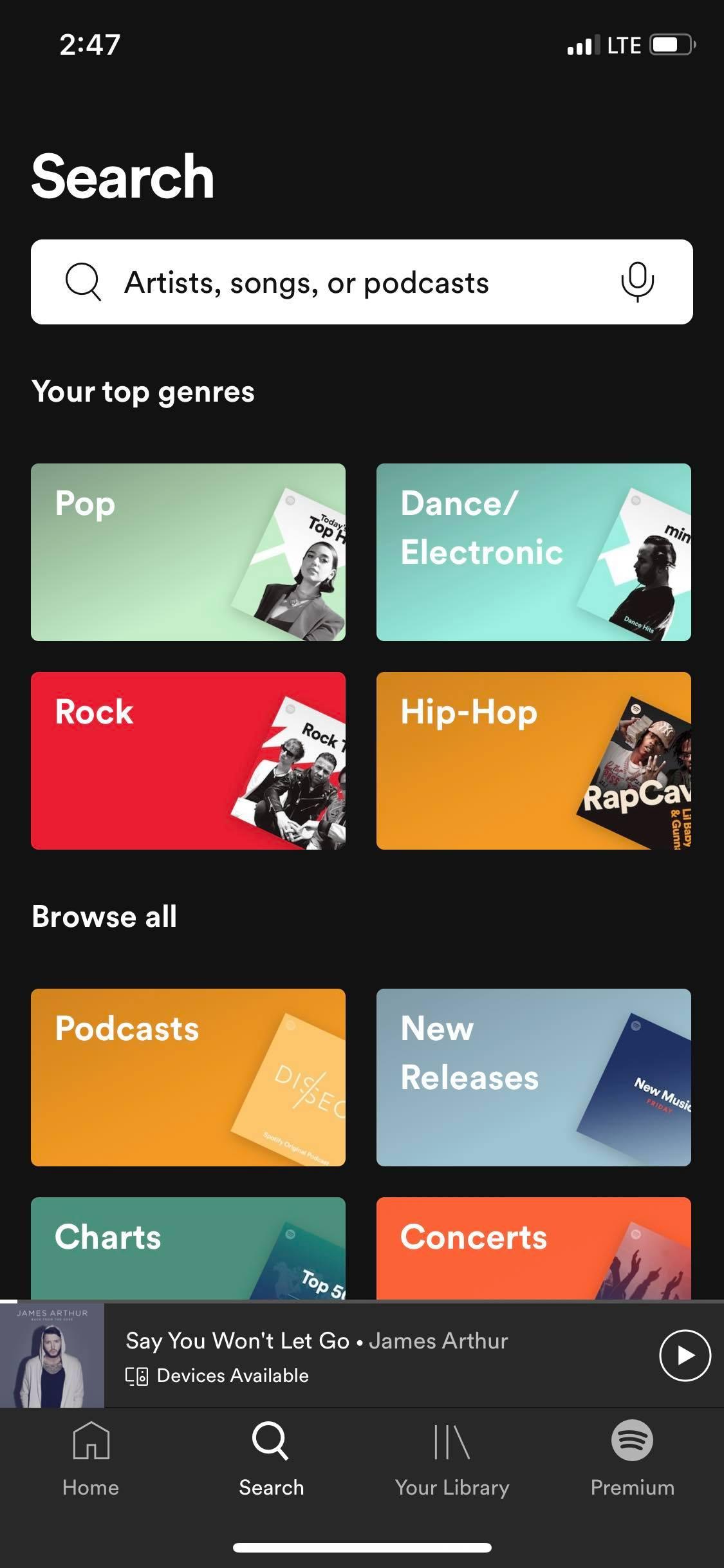 Screenshot from Spotify