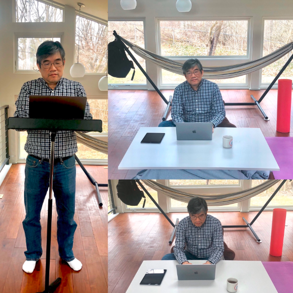 Logic Solutions' CEO Jimmy Hsiao is working from home